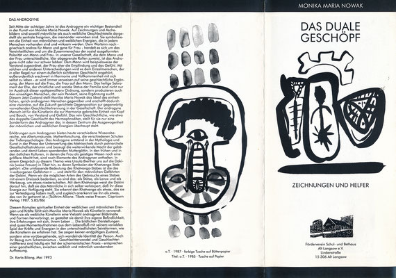 "Faltblatt zu ""Das duale Geschöpf"", 1993, Werbig"