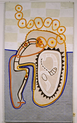 Zum I GING, Die Arbeit am Verdorbenen, 1997, Acryl auf Leinen