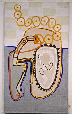 I Ging, Die Arbeit am Verdorbenen, 1997, Acryl auf Leinen