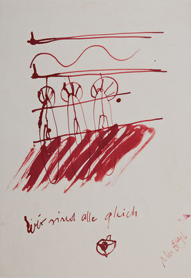Zeichnung zu Seelenreise, Tusche auf Japanpapier