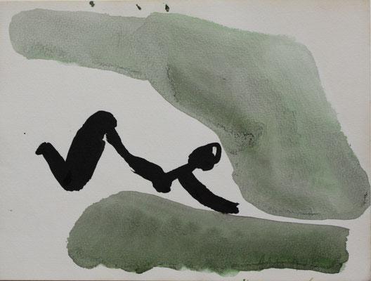 o.T.,Tuschezeichnung auf Aquarellkarton, 1992