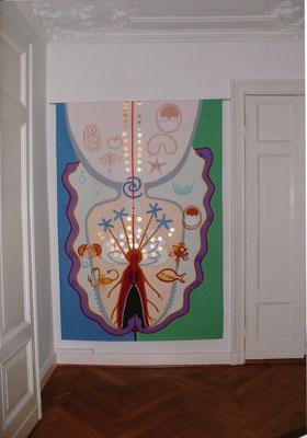 HELFER FÜR V.B., 2009, 160x 205 cm, Acryl auf Leinen, Ausstellung C7, Berlin
