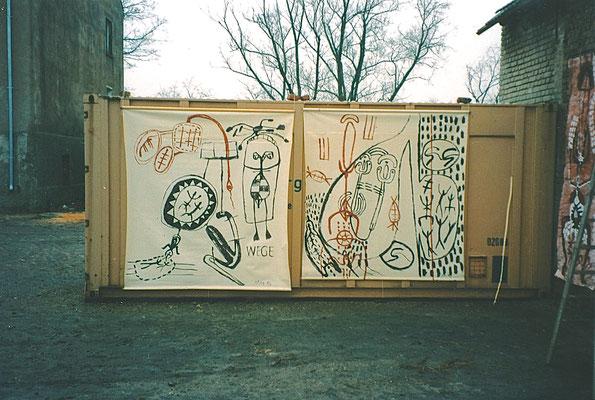 WEGE, 1994, Asche, Russ auf Fensterrollo