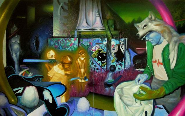 The playground (Ephemeral) / 146 x 92 cm / 2013