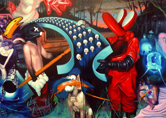 Death and all its friends / 228 x 162 cm / 2014 / Private collection