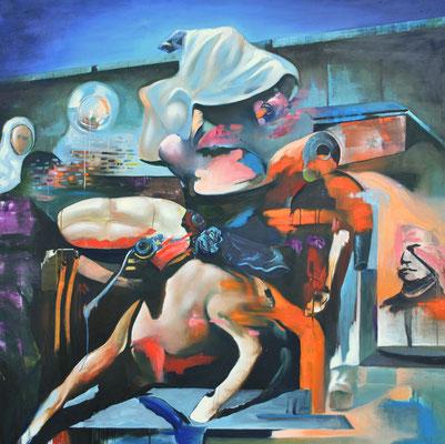 Reassambly of a centaure  / 160 x 160 cm / 2012