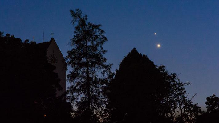 """Die """"Turteltauben"""" kurz vor dem verschwinden am westlichen Horizont gegen 23:30 Uhr"""