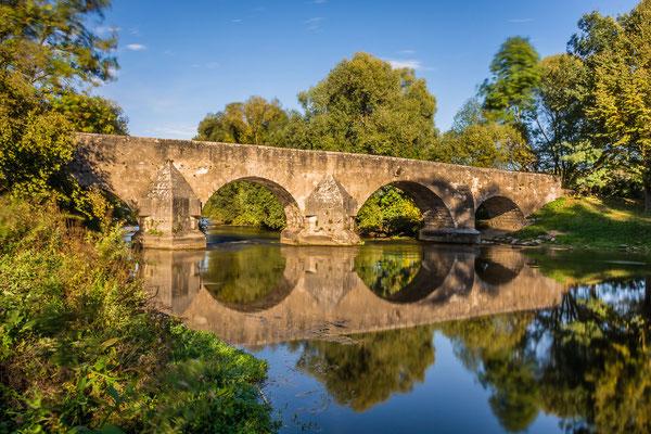 Die historische Steinbrücke über die Altmühl bei Pfünz