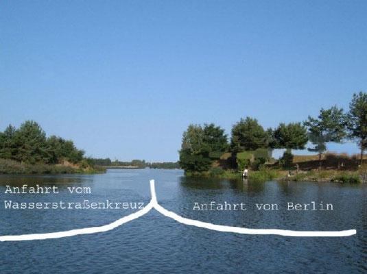 Einfahrt über den Niegripper See