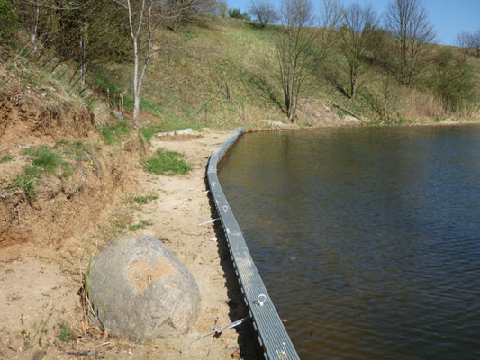 unser Stützpunkt (in der Entstehung) am Niegripper See