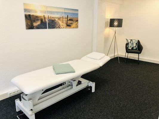 Behandlungsraum mit Liege - Ergotherapie Jensen (Praxis Iserlohn)