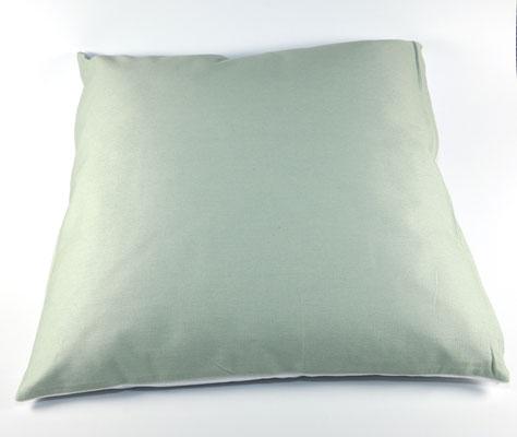 Rückseite Kissen Seegrün/Weiß