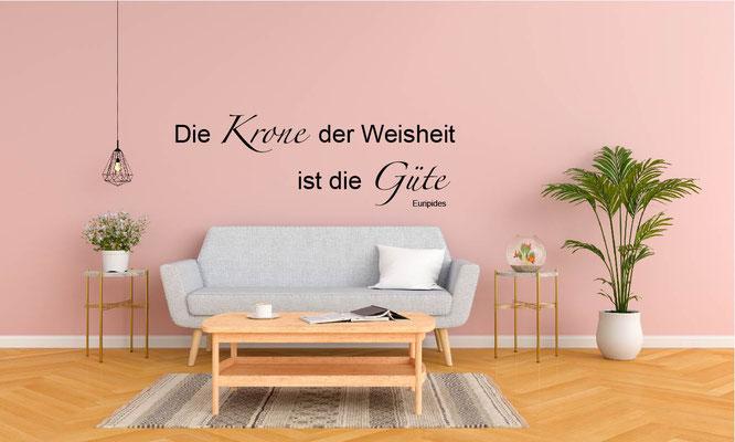 Wandtattoo Wohnzimmer Zitat