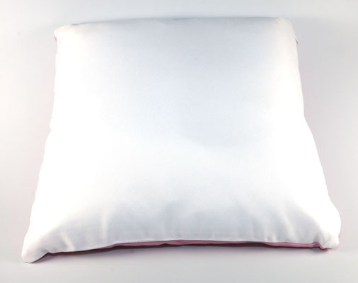 Vorderseite Kissen Himbeer/Weiß