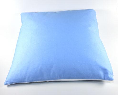 Rückseite Kissen Himmelblau/Weiß
