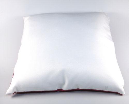 Vorderseite Kissen Altrosa/Weiß