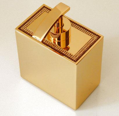 Eleganter Seifenspender ENTOURAGE-CRISTAL, 24 karat vergoldet