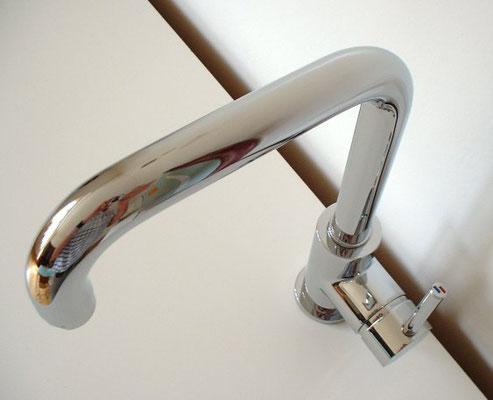 Design 1-Loch Küchenarmatur, EILEEN, Chrom