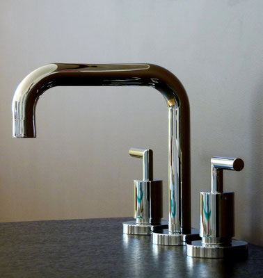 Design 3-Loch Waschtischarmatur, EILEEN-sligthly A, Chrom