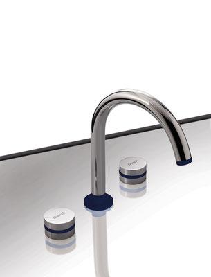 Design 3-Loch Waschtischarmatur, MyRing, Design by Gianluca Paludi, Chrom