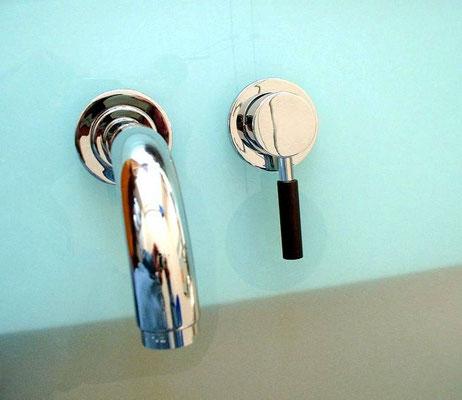 Design Unterputz Waschtischarmatur, EILEEN-wood, Chrom