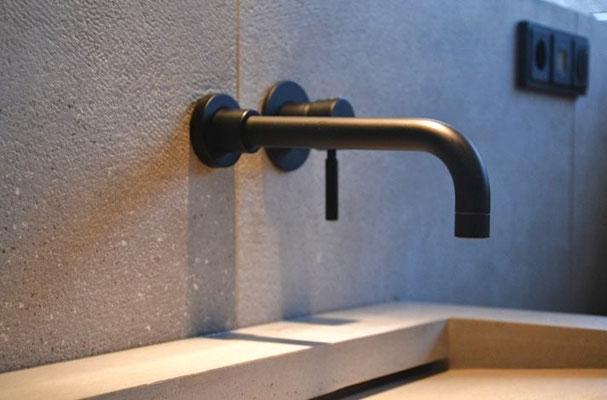 Design Armatur Serie OXO II schwarz-matt | Projekt Baesweiler