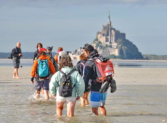 Traversée vers le Mont St Michel