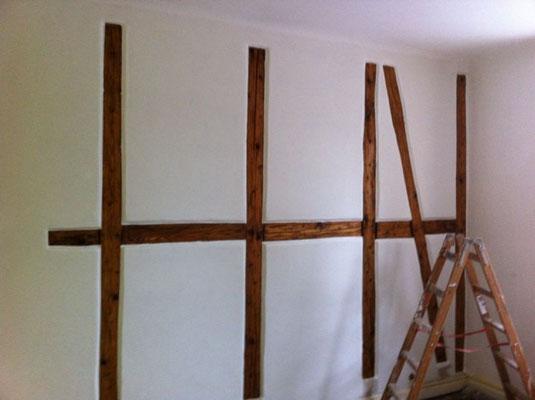 Holzwerk Innenarbeit Sichtfachwerk