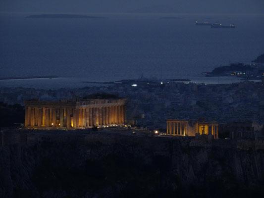 Blick auf die Akropolis vom Likavitoshügel.
