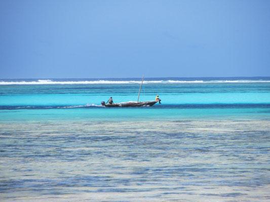 Sansibar: Der indische Ozean hat tolles, klares Wasser mit fantastischen Farben.