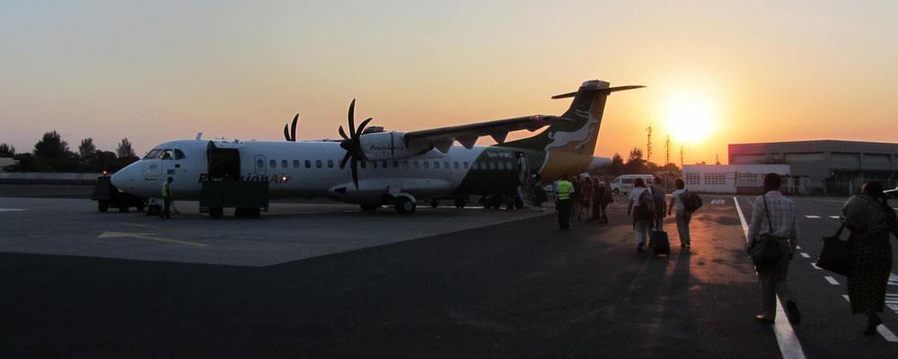 Julius Nyerere Airport in Dar es Salam.