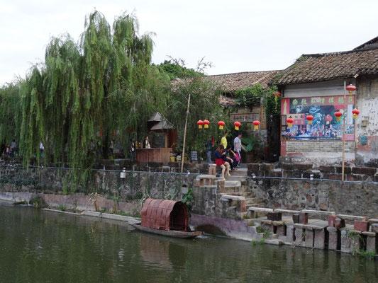 Boot im südchinesischen Nanzhe (2015).