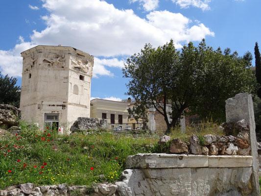 Der Turm der Winde beim römischen Marktplatz (Agora Romanum).