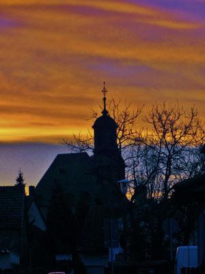 Der Sonnenaufgang in Langenselbold am 24.12.2013