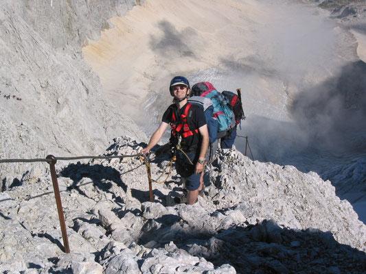Auf dem Zugspitz-Klettersteig II (Foto: Maria Leidenberger)