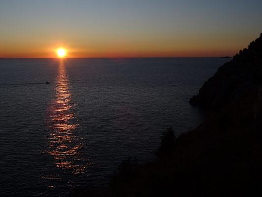 Sonnenuntergang am 8.1.2020
