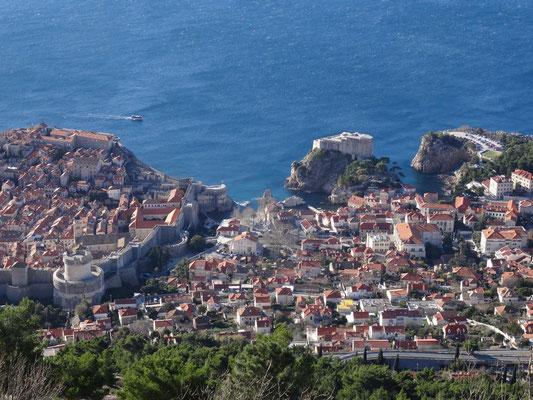 Vom Hausberg Srd im Norden Dubrovniks hat man tolle Blicke auf die Stadt.