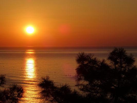 Sonnenaufgang in Calella.