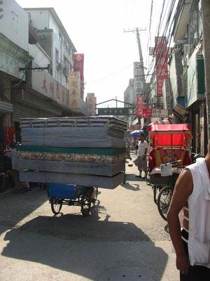 Umweltfreundliche Transportkultur (Peking 2005).