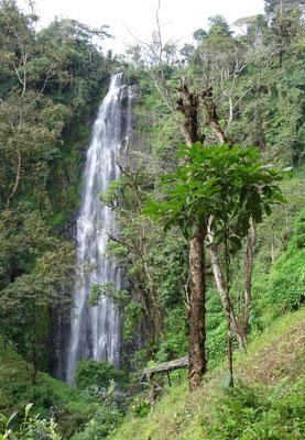 Mnambe Wasserfall vor einem Jahr im Juli 2017.
