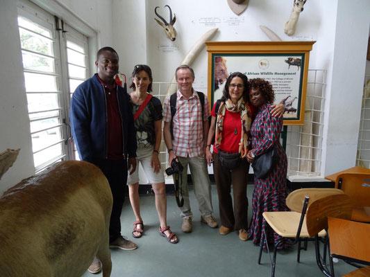 Besichtigung des Mweka-College, in dem z.B. die Safari-Guides ausgebildet werden.