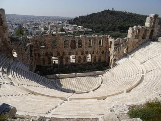 Odeon des Herodes, ein Amphittheater zu Füssen der Akropolis.