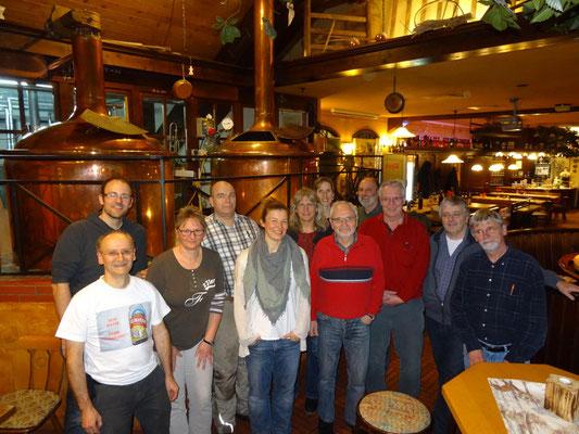Zusammen mit Kollegen habe ich unter Anleitung von Brauer Frank Ziemer am 21.1.2017 Bier gebraut.
