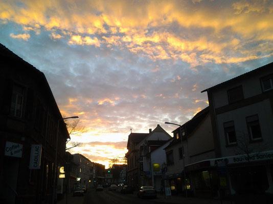 Sonnenuntergang in Langenselbold.
