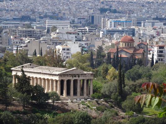 Der besterhaltenste Tempel Griechenlands: der Hephaistos-Tempel des Antiken Marktplatzes (Archaia Agorá).
