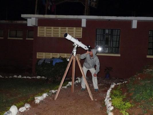 Das Teleskop ist seit heute voll einsatzbereit.