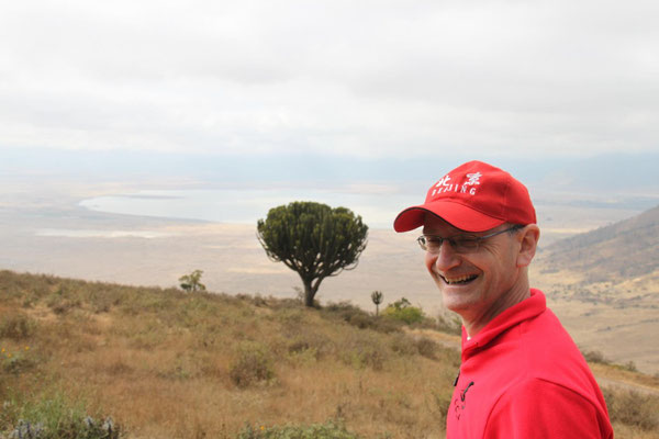 Am Rand des Ngorongorokraters. Foto: Michael Link