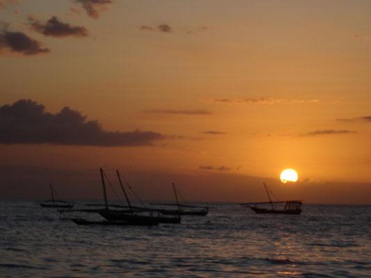 Sonnenuntergang auf Sansibar.