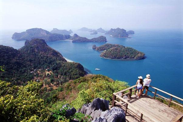 Illes del Parc Nacional marí de Mu Ko Ang Thong, Tailàndia.