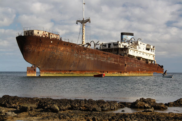 El vaixell Telamon a Lanzarote.